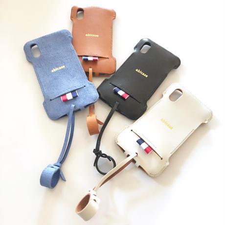 【予約受付】abicaseXRWJ/iPhoneX用リボンウォレットジャケット