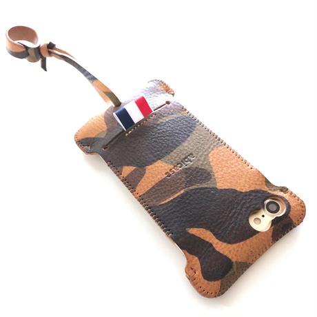 【1点物】iPhone7&8用 カモフラリボンウォレットジャケット