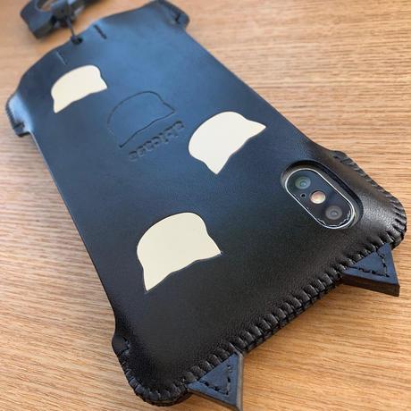 【iPhone XS Max】黒猫アビケース/4猫印
