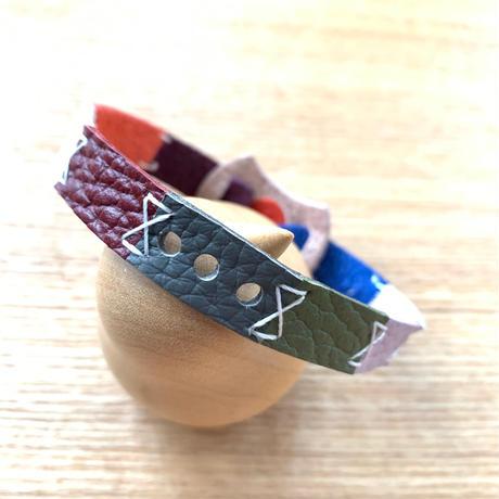 【受注制作品】abicaseDogCollar/aiboの首輪/日の丸クレイジーカラーB