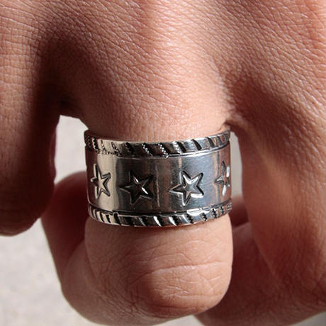 NORTH WORKS ノースワークス / NORTH WORKS 900Silver Stamp Ring Star / W-053