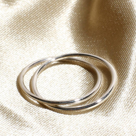 Losau ロサウ / Double line ring / lo-r009-silver