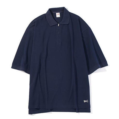 LIDNM×VOTE MAKE NEW CLOTHES / ハーフジップビッグポロシャツ / 18SS-0090AB