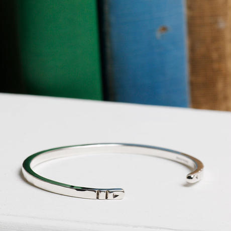 NORTH WORKS ノースワークス / 900silver Stamped bangle / W-302