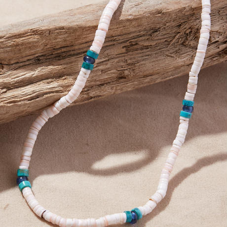 NORTH WORKS ノースワークス / SHELL&TURQUOISE BEADS NECKLACE ネックレス / D-702
