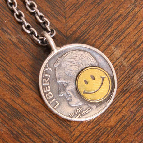 NORTH WORKS 10cent BRASS SMILE PENDANT N-302