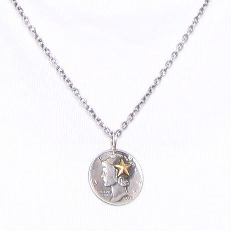 NORTH WORKS ノースワークス / 10cent BRASS STAR PENDANT / N-301