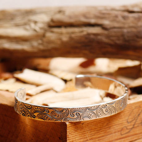 NORTH WORKS ノースワークス / 900silver Stamped bangle S / W-219