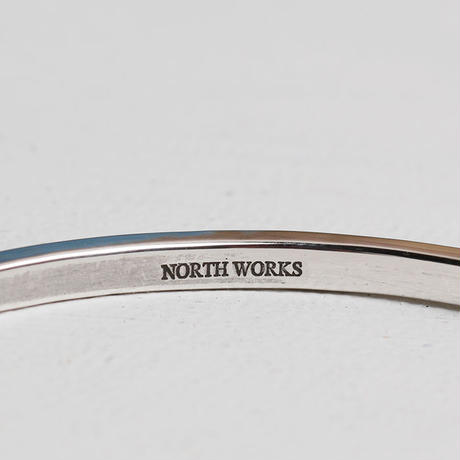NORTH WORKS 900silver Stamped bangle W-301