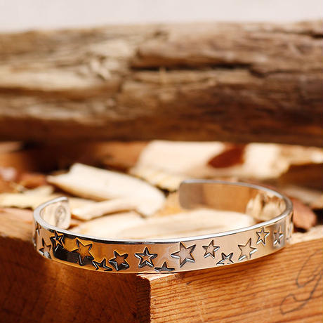 NORTH WORKS ノースワークス / 900silver Stamped bangle S / W-217