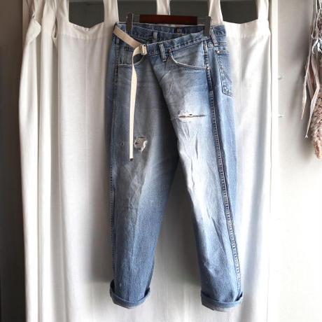 waist wrap remake belt denim pants