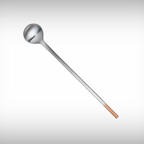 工房アイザワ 純銅洋食器 銀仕上 カトラリー ソーダスプーン 丸