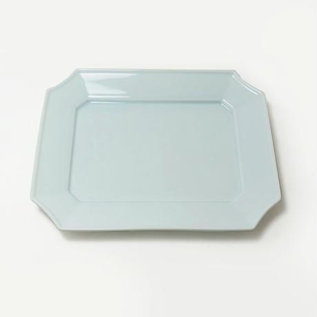 瑞々 すみきり角皿 青白