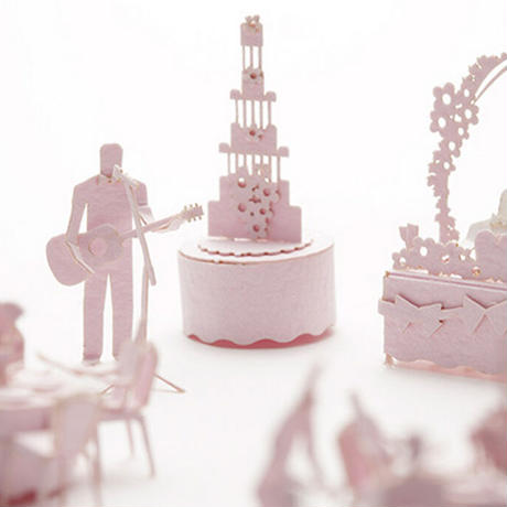テラダモケイ 結婚式・披露宴編 1/100建築模型用添景セット No45