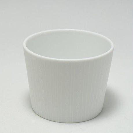 深山/miyama janomeそば猪口 刺繍ストライプ柄(白)