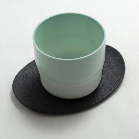"""1616/arita japan  S&B """"Colour Porcelain"""" エスプレッソ Light Pink Dots"""