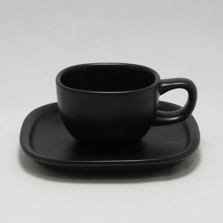 柳宗理 セラミック黒 コーヒーカップ・ソーサー