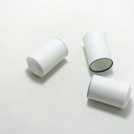 深山/miyama White Line mini cup 45 窯変呉須・ビスク