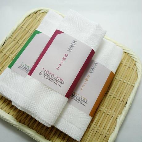 吉岡商店 蚊帳ふきん 1枚入 オリジナルパッケージ茶
