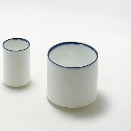 深山/miyama White Line cup150 窯変呉須・ビスク