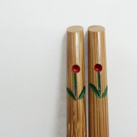 雅竹 花柄箸 (豆)