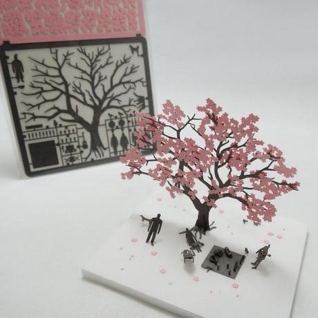 テラダモケイ お花見編 1/100建築模型用添景セット No.11