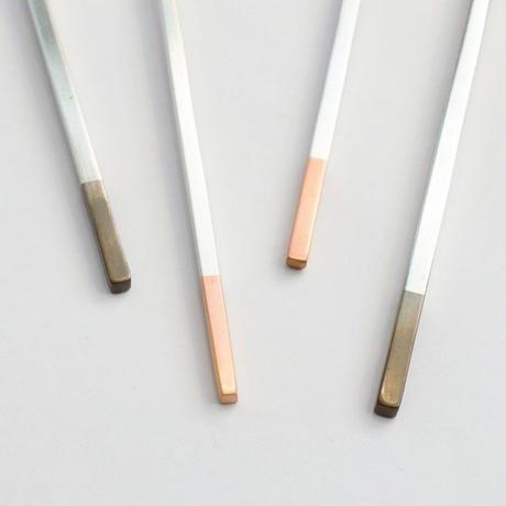 工房アイザワ 純銅洋食器 銀仕上 カトラリー デザートナイフ