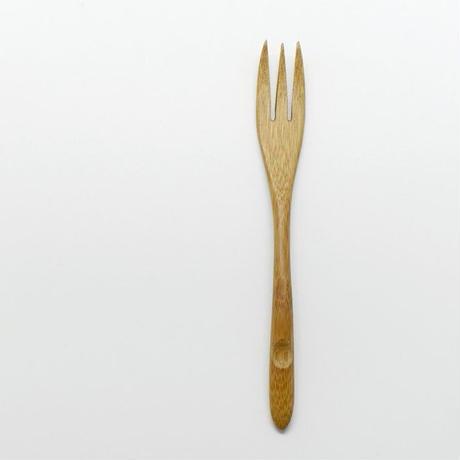 雅竹 すす竹カトラリー 三つ又フォーク えくぼ クリア