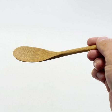 雅竹 すす竹カトラリー 雑炊スプーン えくぼ クリア