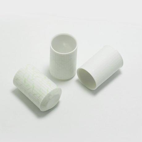 深山/miyama sasasa ぐい呑(ショットグラス) 白磁