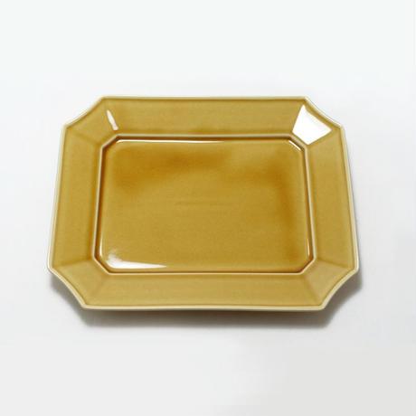 瑞々 すみきり角皿 うす飴