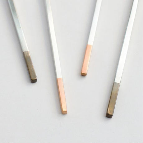 工房アイザワ 純銅洋食器 銀仕上 カトラリー ヒメフォーク
