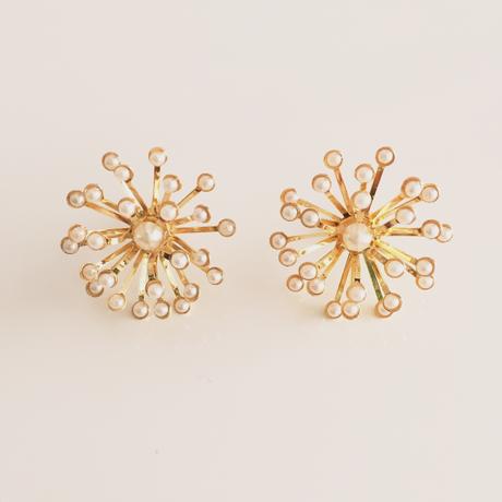 metal flower earrings