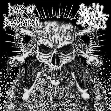 "SOCIAL CRISIS / DAYS OF DESOLATION - Split 7""EP (Up The Punx Records)"
