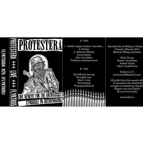 FLYKTSODA #25 - Protestera - Live Benefit For The Antifascist Struggle... cassette (Flyktsoda)