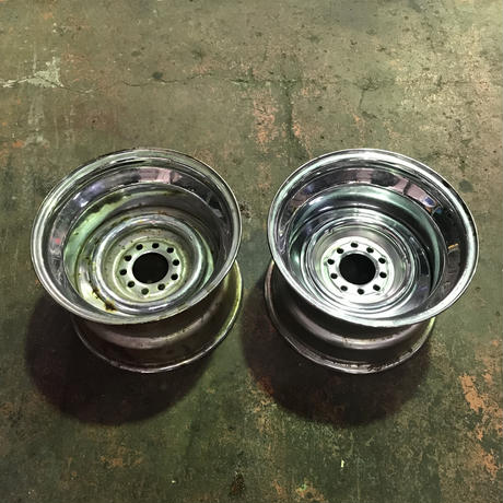 (055)Steel Wheel 15×10j スチールホイール  ボルトパターン 4.5〜4.75