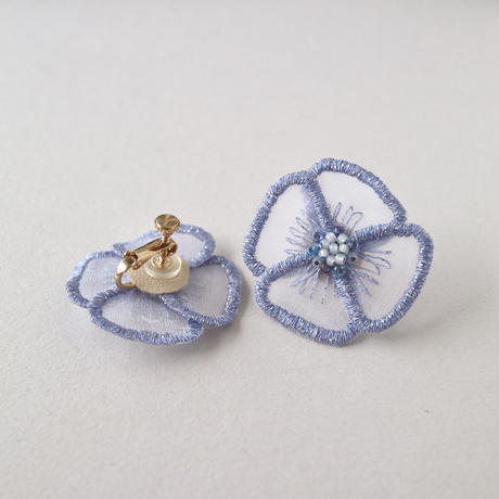 fluffy blue イヤリング/ピアス