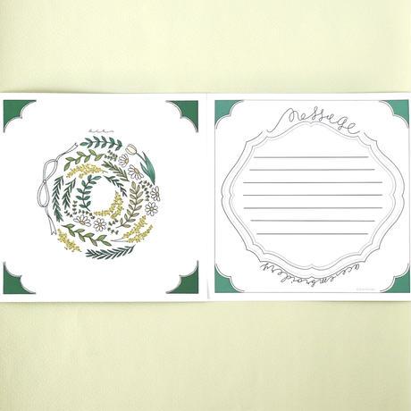 ミモザ リースのメッセージカード(バラ10枚入)
