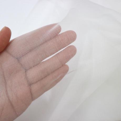 シルクオーガンジー生地 小(約20cm×25cm)オフホワイト