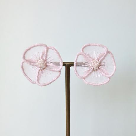 fluffy pink イヤリング/ピアス