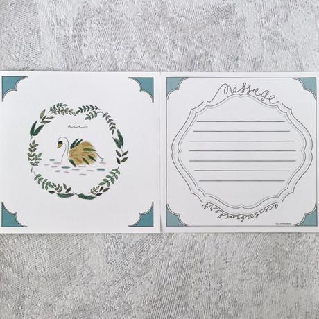 スワンのメッセージカード(バラ10枚入)