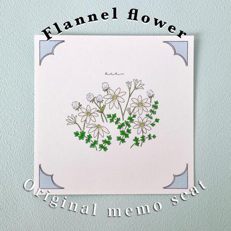 フランネルフラワーのメッセージカード(バラ10枚入)