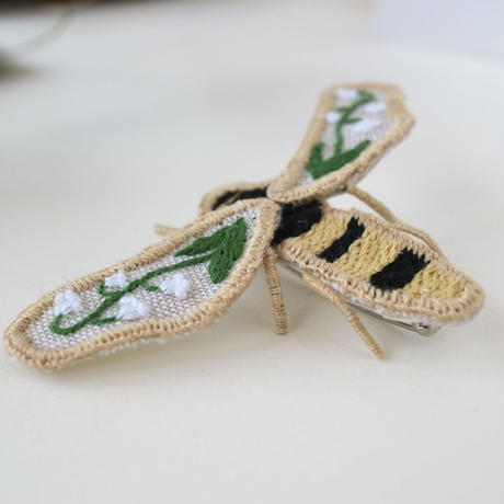 lily of the valley bee brooch