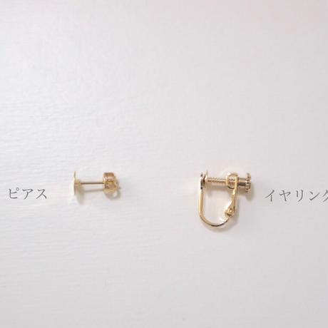 ブライダルベールの耳飾り オーガンジー刺繍キット