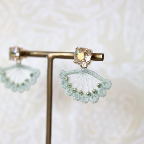 quiet jewelry green ピアス