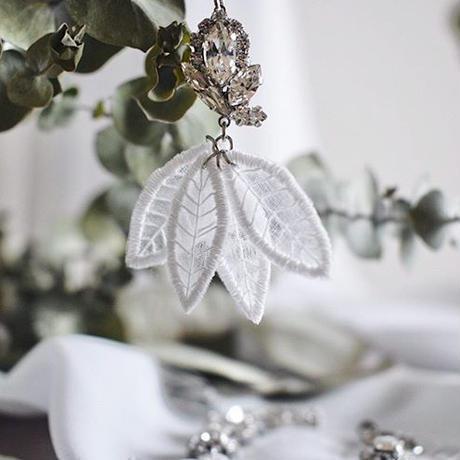 ACExmimiacc コラボジュエリー leaf イヤリング/ピアス