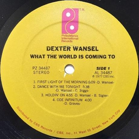 Dexter Wansel – What The World Is Coming To