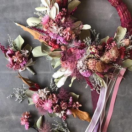 order(wreathe bouquet) 3items set…