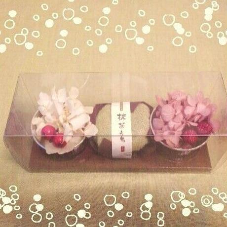 和菓子アレンジメント~抹茶もち~
