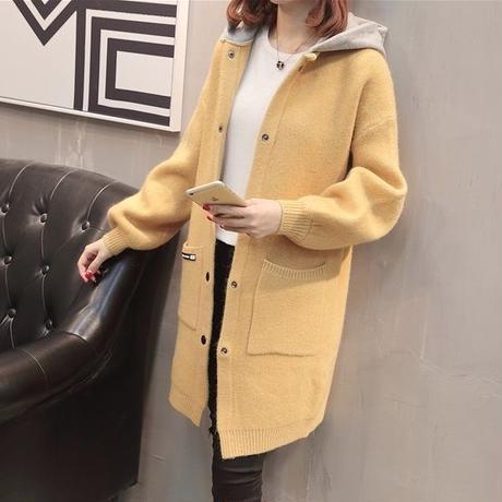 ボアコート アウター レディース ふわふわ 無地 シンプル ロングコート フード付きロングコート 韓国 ファッション K30065